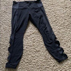 Athleta workout pants 7/8 length w cut outs